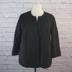 Eileen Fisher Black Single Button Jacket 3x ***